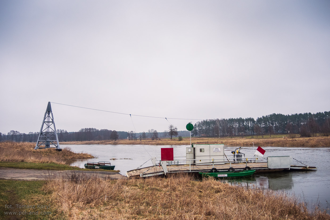 Przewóz międzybrzegowy Prom rzeczny na Warcie- Karolewo - Chojno Wieś